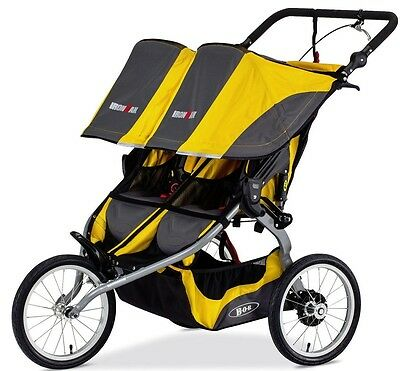 Bob Ironman Duallie Twin Baby Jogger Double Jogging  Stroller Yellow NEW 2016