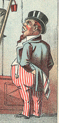Glen Wild, Ny. Uncle Sam, Looking Dumpy & Fat, New Home Sewing Trade Card Tc1150