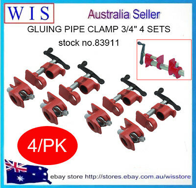 "Gluing Pipe Clamp 3/4"" 4 Sets - Woodworking Vice Hand Tool-83911"