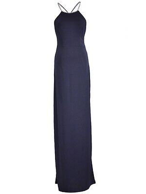 7c6354c01 Formal Wedding Bridesmaid Slim Fit Long Flowing Evening Cocktail Gown Maxi  Dress