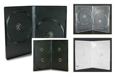 NEW! VALUE Multi-Disc (2 or 4) DVD Case 3-pack Lot (14mm) Black-White-Clear