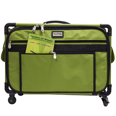 """Tutto Lime Large 5222MA Sewing Machine Bag On Wheels 22x15x12"""" *Missing Handle*"""