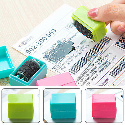 1PC Roller Seal Stamp Signet Hide Garbled Messy Code Identity Theft Protect