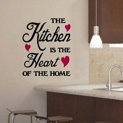 Removable Quote Word Decals Vinyl DIY Kitchen Home Room Decor Art Wall Stickers