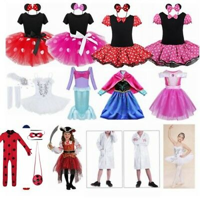 Girls Baby Toddler Minnie Mouse Outfits Party Costume Princess Ballet Tutu Dress
