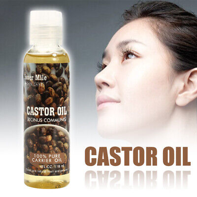 100% Organic Pure Cold Pressed Castor Oil for Hair Growth Skin & Hair Care 118ml