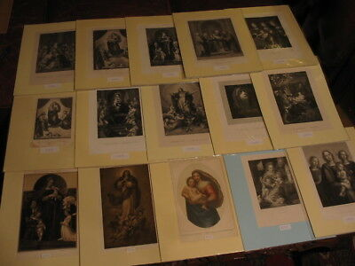 Lot 15 Alte Grafiken-Stahlstiche Lithos-Madonna-Maria-Bibel-Bible-No.846