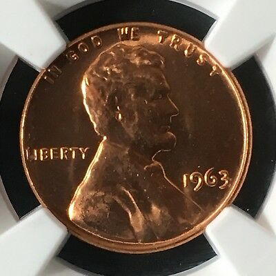 1963 1C RD Lincoln Memorial One Cent NGC MS66+RD                   4661437-001