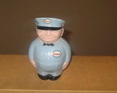 Vintage Advertising Esso Fat Man Gas Station Attendant Plastic Bank Figure