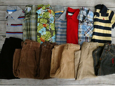 LOT of USED BABY BOY18 MONTHS TOPS SHIRTS CORDUROY JEANS PANTS CLOTHES LOT