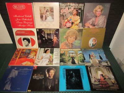 Schallplatten-Sammlung, Collection: Klassik, Arias, Sopran, Mezzosopran 70 LP's