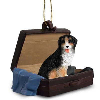 Bernese Mountain Dog Traveling Companion Dog Figurine In Suit Case Ornament