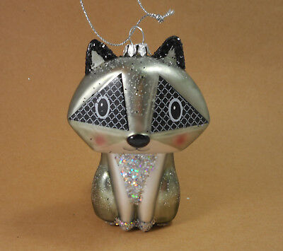 Raccoon Ornament Grey Glass Raccoon by Midwest-CBK 123142