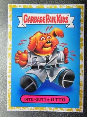 TOPPS 2018 GPK  We Hate The 80's GOLD Parallel TV/SHOWS 8b BITE-OTTA OTTO 02/50