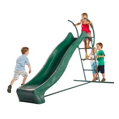 Free Standing Green Playground Slide Ladder Kit 1.5m Outdoor Cubby Pool Slide