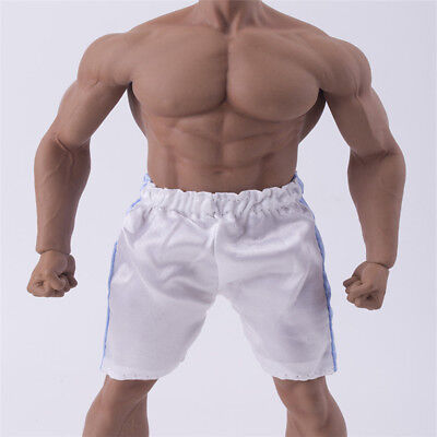 """Mini 1/6 Scale Male Model Fitness Shorts Pants For 12"""" Phicen Figure Body Toys"""