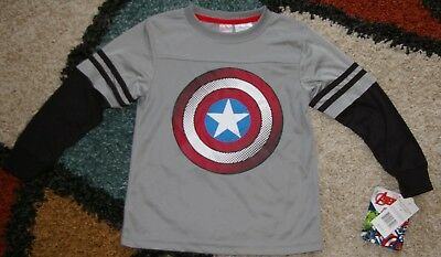 Marvel Avengers Boys L/S Printed Tee Shirt Sizes 4 to 6
