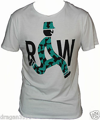 New G-Star Raw Mens T-Shirt Round Neck in White Colour Size L