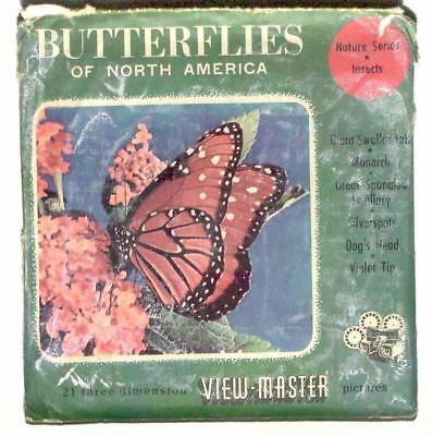 FOREIGN vintage SAWYERS view master BUTTERFLIES OF NORTH AMERICA European reels!