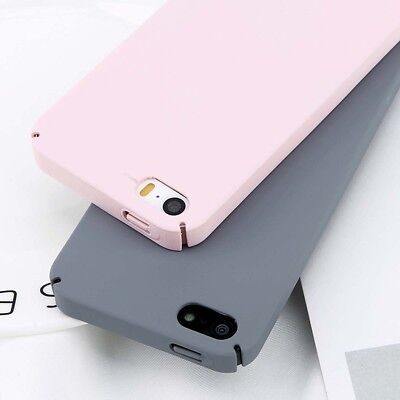 For Apple iPhone 5 5s SE Luxury Slim Ultra Thin Matte Shockproof Hard Case Cover