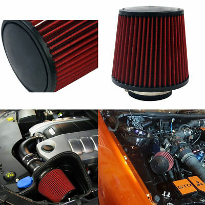 """3"""" 76mm High Flow Car Air Filter Inlet Short Ram Cold Intake Round Cone Cleaner"""