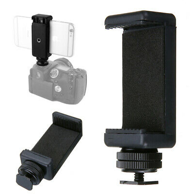 For DSLR Camera Hot Shoe Screw Adapter Stand Mount Smart Phone Clip Clamp Holder