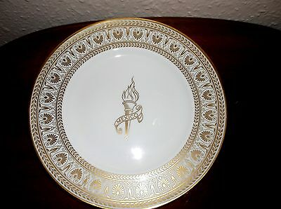 Collectable Highly Gilded Display Plate Crown Staffordshire Mexico 1968 Olympics