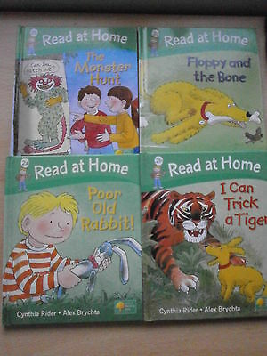 Oxford Reading Tree Read At Home Hardback  2a,2b 2b,2c  x 4 Books green cover
