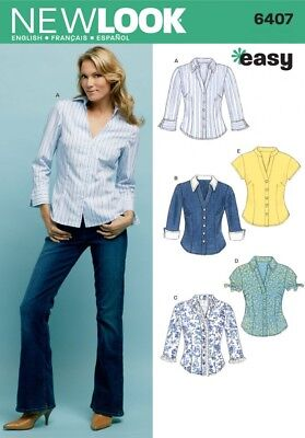 New Look Ladies Sewing Pattern 6407 Shirts & Blouses (NewLook-6407)
