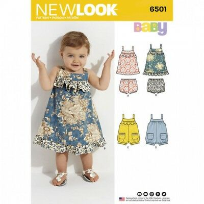 NEW LOOK BABY Sewing Pattern 6501 Dress & Romper (NewLook-6501 ...