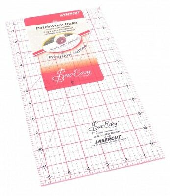 Sew Easy Patchwork Quilting Ruler - each (NL4180)