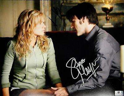 Anna Paquin Stephen Moyer Signed Autographed 11x14 Photo True Blood GA 732008