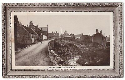 COLDINGHAM Fishers Brae, RP Postcard c1914 Unused, Ecru Series