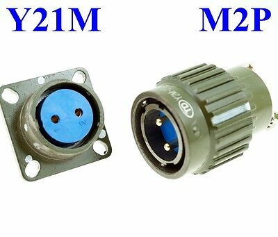 22mm M 2P Electrical Connector Military PLUG Male Pin + Base Female Receptacle