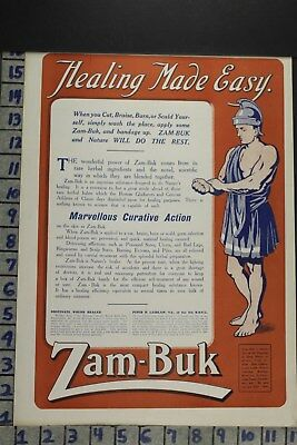 1916 Medical Zam-Buk Herbal Remedy Health Healing Medicine Vintage Ad Dz038