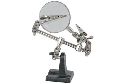 HELPING HANDS holder with magnifier model makers hobby pcb soldering clamp arms