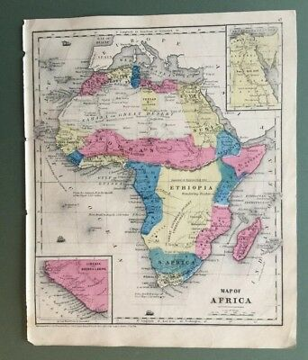 smith s quarto 1854 map of africa showing colonies of people of