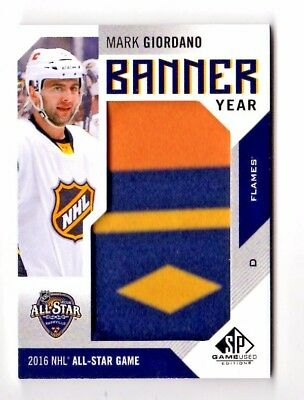 Mark Giordano Nhl 2016-17 Sp Game Used Banner Year All Star '16 (Calgary Flames)
