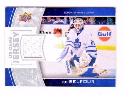 Ed Belfour Nhl 2013-14 Upper Deck Game Jerseys White (Toronto Maple Leafs,stars)