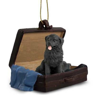 Newfoundland Traveling Companion Dog Figurine In Suit Case Ornament