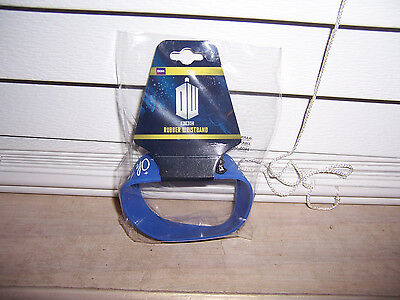 "BBC Doctor Who Blue Rubber Wristband ""Oh My Stars!"" Underground Toys Amy Pond 11"