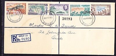 Southern Rhodesia 1953 Rhodes Centenary Registered R0180 First Day Cover
