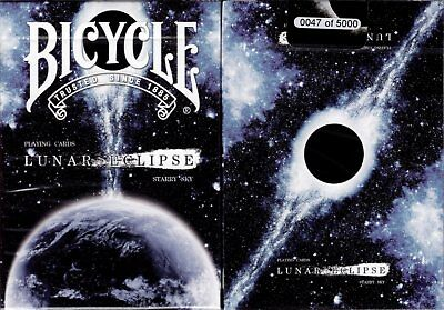 Lunar Eclipse Bicycle Playing Cards Poker Size Deck USPCC BOCOPO Custom Limited