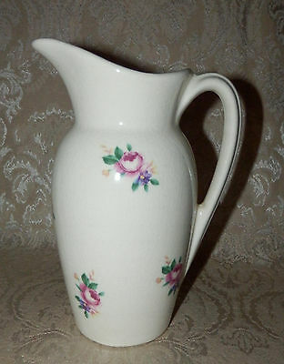 Vintage ROYAL COPLEY Pitcher Off White with Rink Roses Chic n Shabby