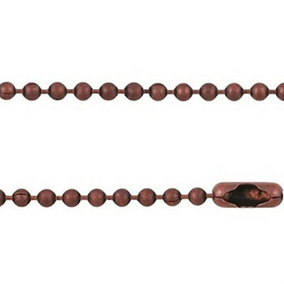 10pc x 76cm long 2.4mm BALL CHAIN Necklace DIY pendant findings - ANTIQUE COPPER