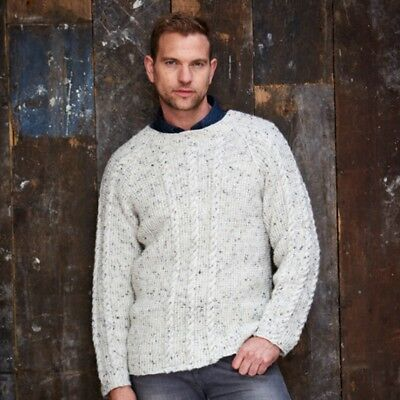 42aefa847 Stylecraft Mens Sweater   Cardigan Alpaca Tweed Knitting Pattern 9340 DK.