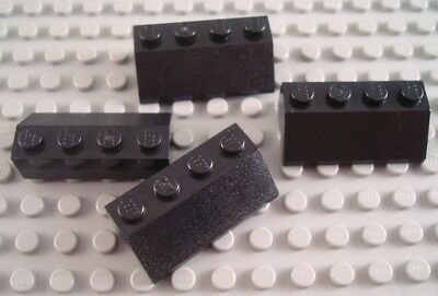LEGO Lot of 4 Black 2x4 Creator Classic Roof Slope Pieces