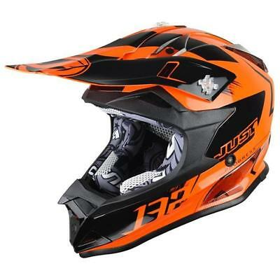 Just1 J32 Pro Kids Kick Motocross Helmet 2018 - Orange Fluo ENDURO
