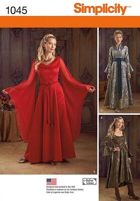 Simplicity Ladies Sewing Pattern 1045 Historical Style Dresses Costumes (Simp...