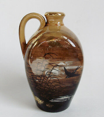 "ROOKWOOD Pottery 5"" LIMOGES 1882 PERFUME JUG BIRD MOON Signed ALBERT HUMPHREYS"